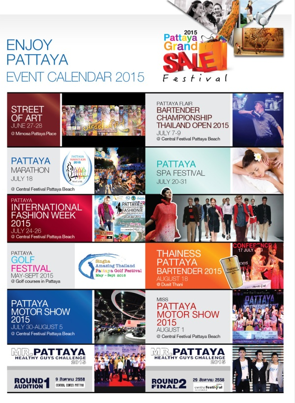 Calendar Pattaya Grand Sale 2015